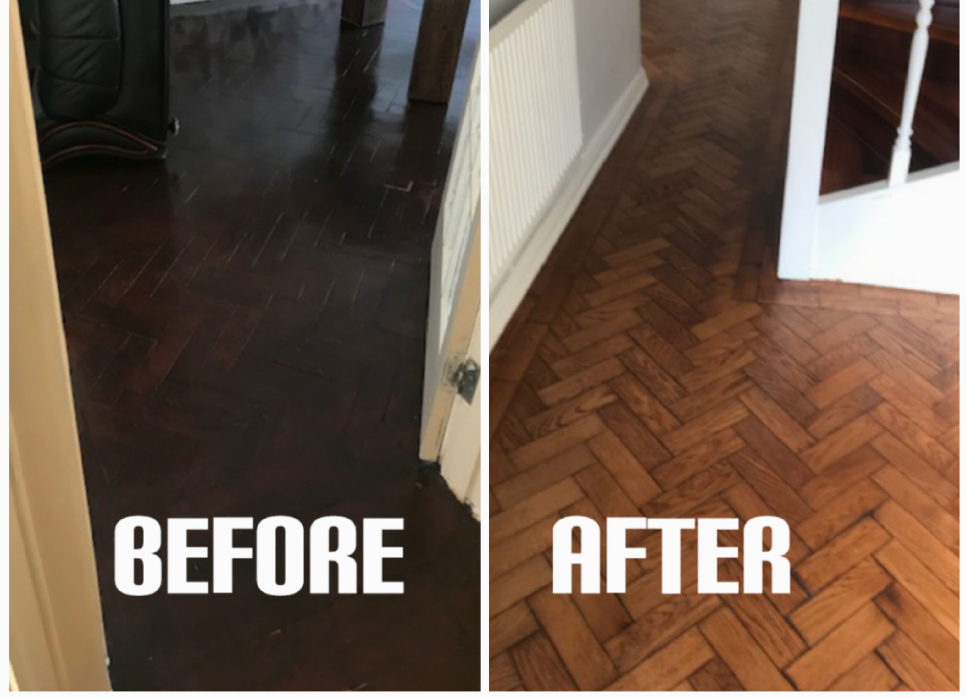 Floor repair and staining of house, West Ham