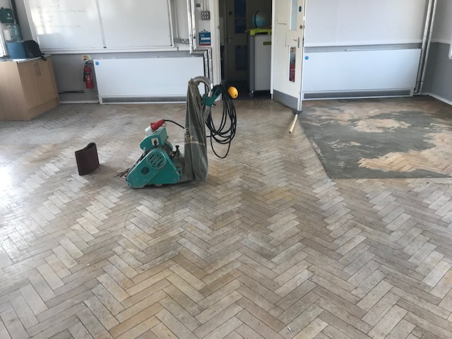 school floor sanding and repair
