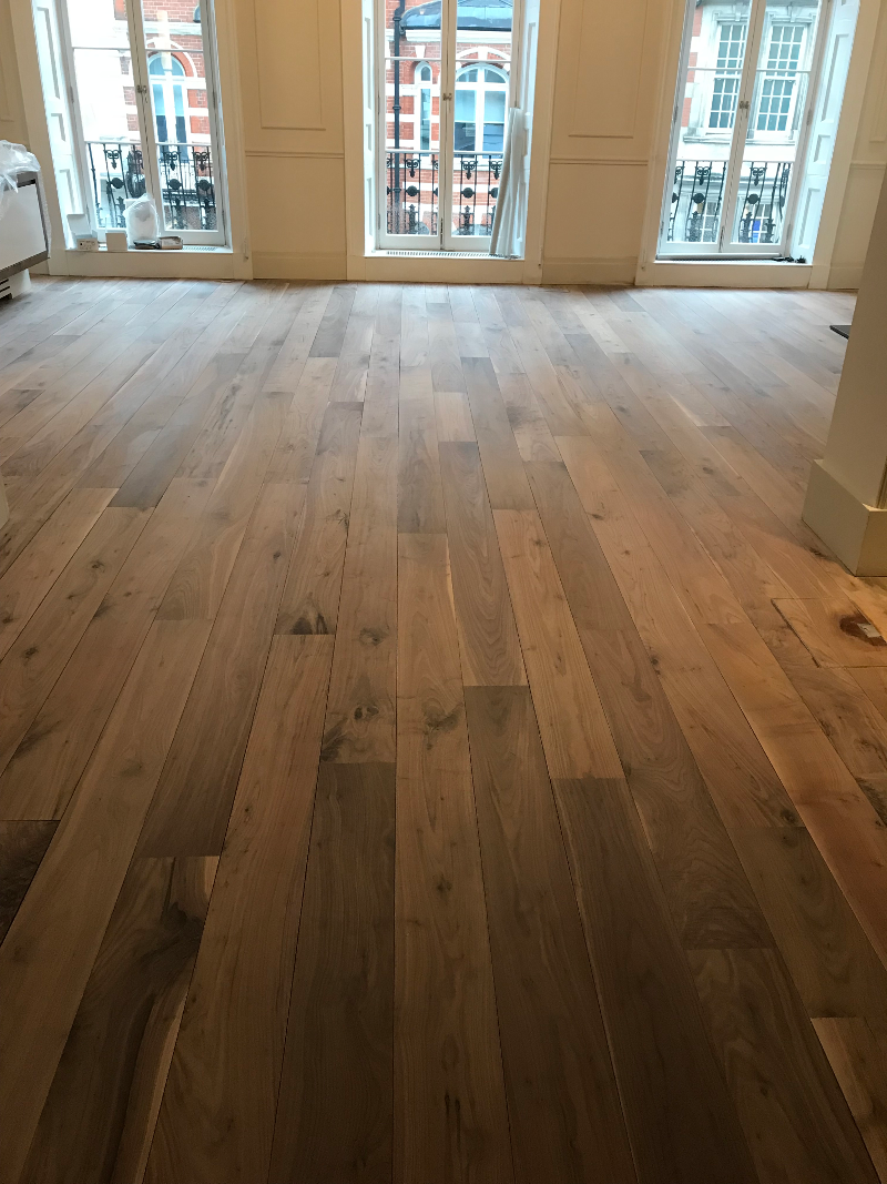 Wood floor sanded apartment