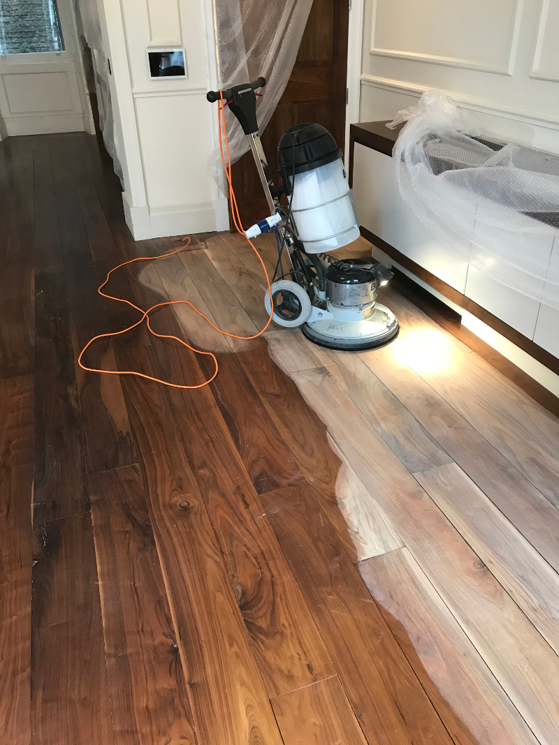 Sanding process in Kensington and Chelsea