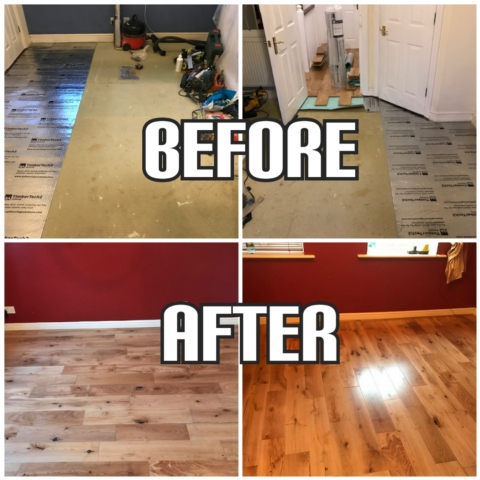 before and after hardwood flooring installation, Chelsea