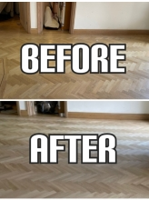 before and after parquet repair in Highbury