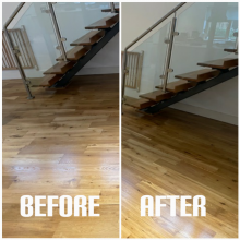 example of wood stairs sanding and repair of a house, Tottenham