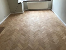 Herringbone floor restoration, Camden