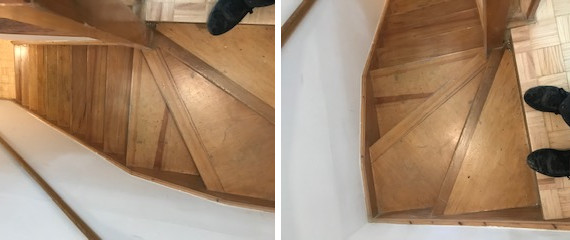 Stairs restoration, King's Cross